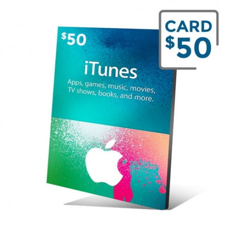 Apple Gift Card $50- iTunes Gift Card $50