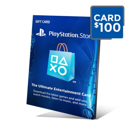 PSN Card 100 - Cartão PSN 100 Doláres - Playstation Network 100