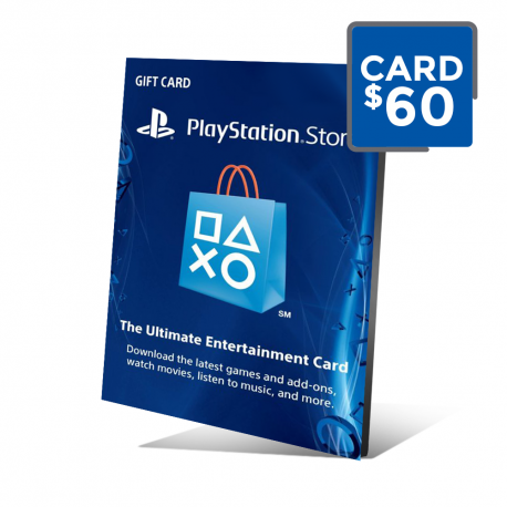 PSN Card 60 - Cartão PSN 60 Doláres - Playstation Network 60